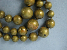 Load image into Gallery viewer, 1940s Brass Ball Bead Necklace Multi Strand