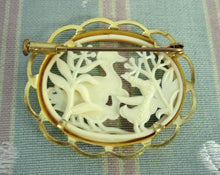 Load image into Gallery viewer, 1920s Pin Brooch French Celluloid Ducks Silhouette Pin