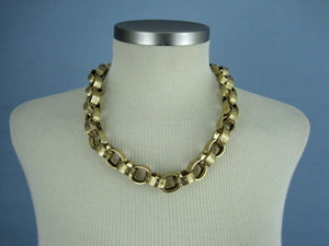 1980s Givenchy Couture Chunky Gold Link Necklace