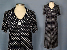 Load image into Gallery viewer, 1960s Blue White Polka Dot Dress Zippered Front