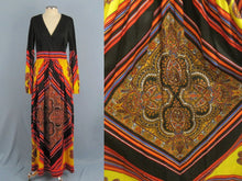 Load image into Gallery viewer, 1960s Peck & Peck Hippie Boho Maxi Dress Greenwich Village Paisley