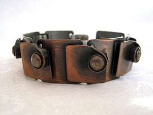 1940s Rebajes Copper Bracelet Modernist Jewelry