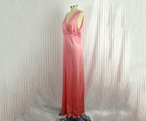 1990s Vanity Fair Nightgown Desert Pink Deadstock NWT Empire Waist Full Length Nightgown