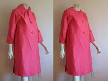 Load image into Gallery viewer, 1950s Hot Pink Swing Coat