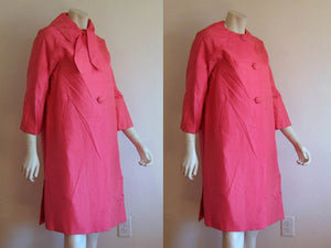 1950s Hot Pink Swing Coat