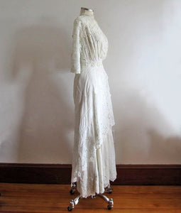 1900s Edwardian Tea Gown Right Side