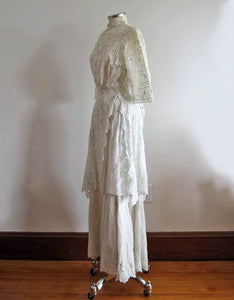 1900s Edwardian Tea Gown Left Side