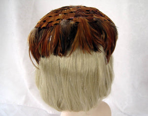 1950s Feather Fascinator Hat