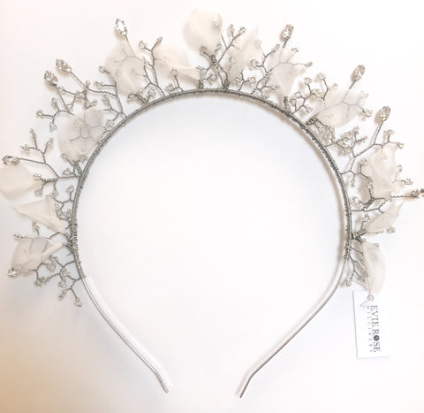 Sophia Silk Organza Petal Crown