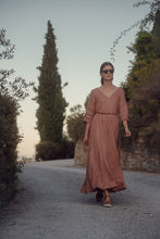 Load image into Gallery viewer, ANNA TERRACOTTA LINEN MAXI DRESS