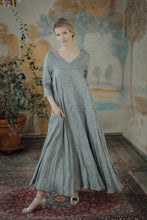 Load image into Gallery viewer, ANNA GREY LINEN MAXI DRESS