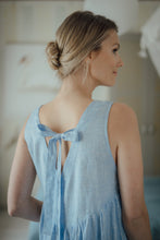 Load image into Gallery viewer, EMMA LIGHT BLUE LINEN MAXI DRESS (Pre-Order, Ships October 22)