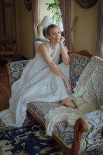 Load image into Gallery viewer, EMMA WHITE LINEN MAXI DRESS (Pre-Order, Ships October 14)
