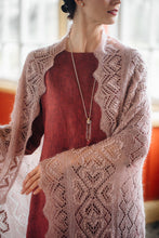 Load image into Gallery viewer, HAAPSALU SHAWL WITH HEART PATTERN IN OLD PINK (EXTRA LARGE)