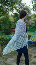 Load image into Gallery viewer, HAAPSALU SHAWL WITH RESORT HALL PATTERN IN WHITE