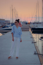 Load image into Gallery viewer, HOLM WHITE LINEN TROUSERS