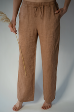 Load image into Gallery viewer, HOLM TERRACOTTA LINEN TROUSERS