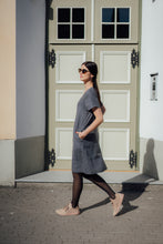 Load image into Gallery viewer, IDA DARK GREY LINEN DRESS