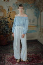 Load image into Gallery viewer, ISABEL WHITE LINEN TROUSERS (Pre-Order, Ships October 14)