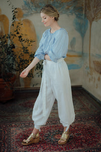 ISABEL WHITE LINEN TROUSERS (Pre-Order, Ships October 14)