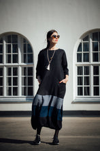 Load image into Gallery viewer, MARGARET BLACK LINEN MAXI DRESS