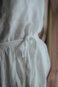 MARIE WHITE LINEN WRAP SKIRT