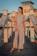 Load image into Gallery viewer, MARION STRIPED LINEN JUMPSUIT