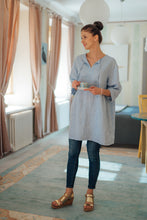 Load image into Gallery viewer, MONA LIGHT BLUE LINEN TUNIC