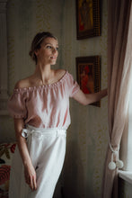 Load image into Gallery viewer, NORA BLUSH LINEN SHIRT