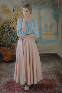 SOPHIA BLUSH LINEN SKIRT