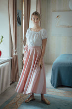 Load image into Gallery viewer, SOPHIA BLUSH LINEN SKIRT