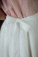 Load image into Gallery viewer, SOPHIA WHITE LINEN SKIRT (Pre-Order, Ships October 14)