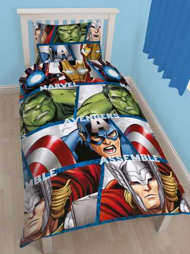 DISNEY MARVEL AVENGERS SINGLE REVERSIBLE DOONA COVER SET