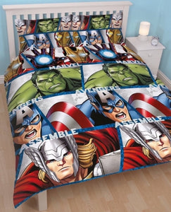 DISNEY MARVEL AVENGERS UK DOUBLE DOONA COVER SET (FITS MOST AU QUEEN)