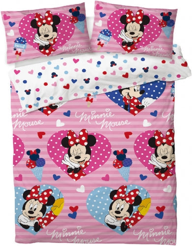 MINNIE MOUSE UK DOUBLE DOONA COVER SET (FITS MOST AU QUEEN)