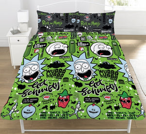 RICK AND MORTY UK DOUBLE DOONA COVER SET (FITS MOST AU QUEEN)