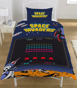 SPACE INVADERS single doona cover set