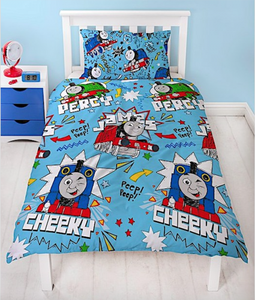 THOMAS AND FRIENDS SINGLE REVERSIBLE DOONA COVER SET