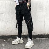many pockets joggers male Casual Trousers men pencil pants
