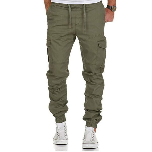 2019 New Men Pants Hip Hop Joggers Fashion Basic Solid Elastic
