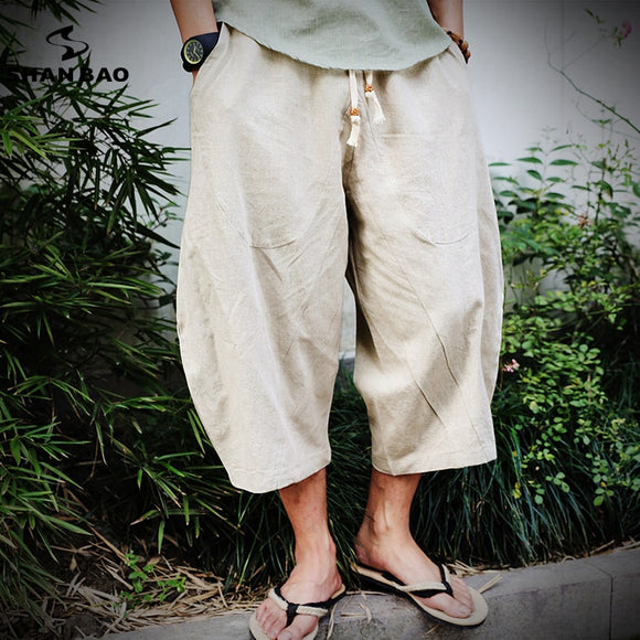 Men's brand casual pants 2019 summer new Japanese and Korean style