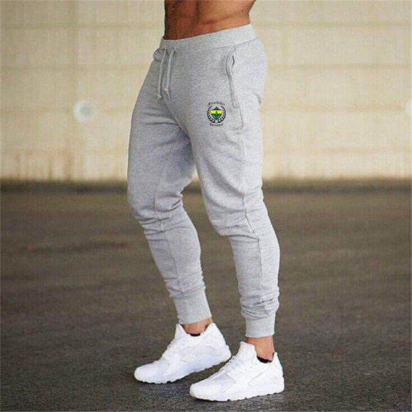2019 Thin Men Letter Print Sweatpants Joggers Male