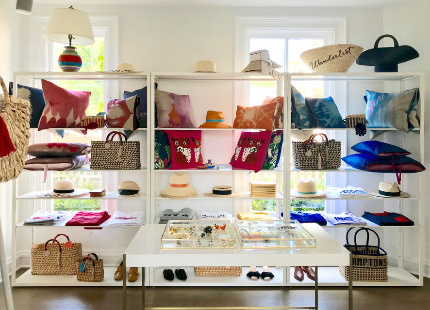 Michele's pillows now in the Hamptons!