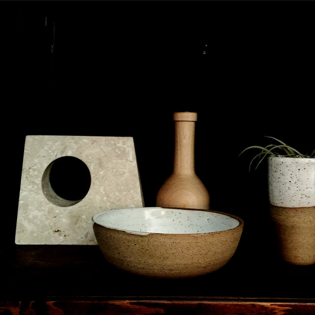 hand-made ceramics, pottery & clay. Scultural, wabi sabi, geometric