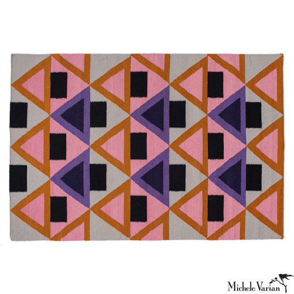 Triangles Wool Area Rug