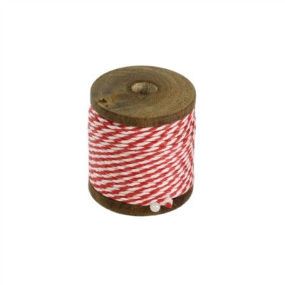 Spool Of Red and White String