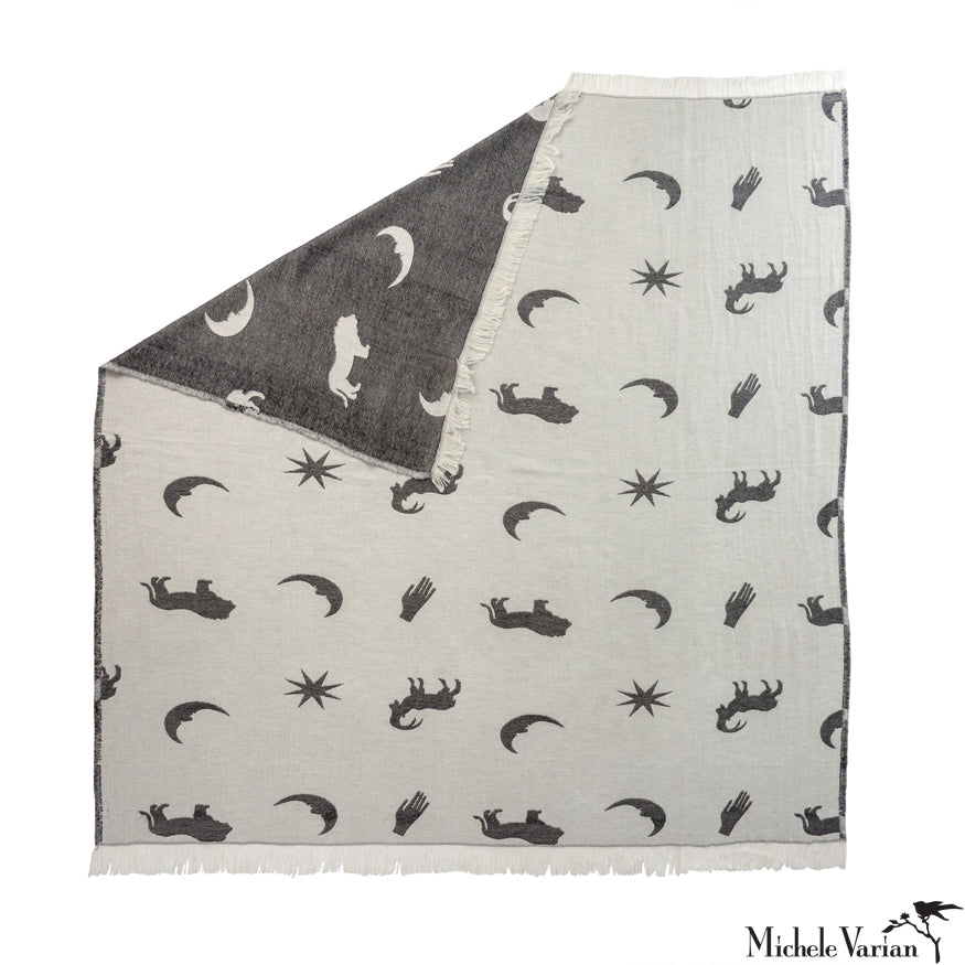 Astrology Throw Grey