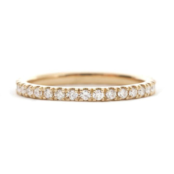 Thin Yellow Gold Eternity Band 1.5mm