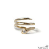 Coil Snake Diamond and Gold Ring