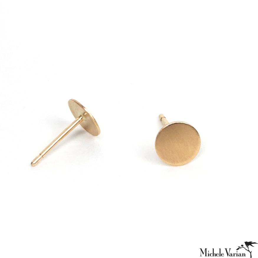 Gold Circle Post Earring